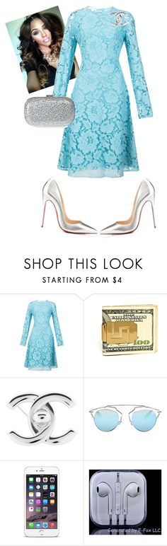 Night Service!!! by cogic-fashion on Polyvore featuring Oscar de la Renta, Giuseppe Zanotti, Chanel, Christian Dior and Christian Louboutin