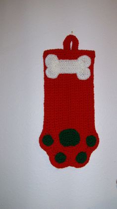 Adorable  Big Red  Christmas Stocking or by MissyOodlesCreations, $12.00