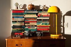 love these stacks of books  .4806 by hildagrahnat, via Flickr