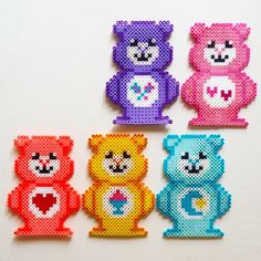 Care Bears hama perler beads by julyandjuly
