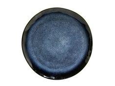 Middagstallerken - blå glasering