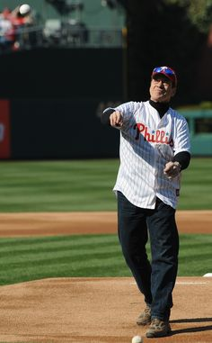 Joe Piscopo threw out the first pitch at the 2013 Home Opener at Citizens Bank Park.