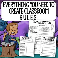 Read-Alouds for the First Day of School - Mr. Elementary Classroom Rules, 5th Grade Classroom, Middle School Classroom, Upper Elementary, Future Classroom, Classroom Consequences, Classroom Behavior Management, First Day Of School Activities, 4th Grade Reading