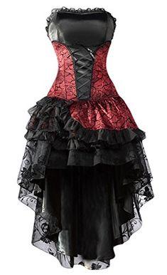 b1fa8ea3da8 Esprrit gothique pour cette robe st valentin asymetrique noire et rouge  dentelle froufrou. Prom Dresses ...