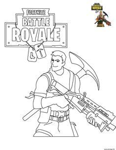 Coloriage Fortnite Battle Royale Personnage 6 A Imprimer Gabin