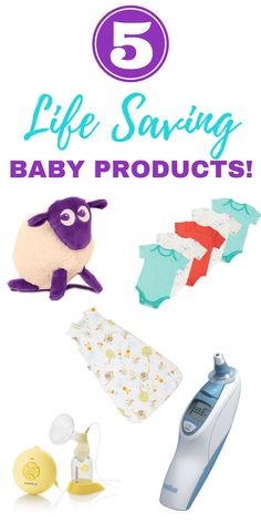 5 life saving baby products that every new parent absolutely needs! These were the five things i literally couldn't live without when we had our baby. Did you have your favorite items?! We loved the thermometer, sleeping bags and white noise! Def helped baby sleep!