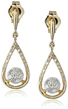 Yellow Gold PearShaped Drop Earrings with Pave Diamond Center IJ Color Clarity *** Continue to the product at the image link. Diamond Jewelry, Diamond Earrings, Drop Earrings, Fashion Earrings, Fashion Jewelry, Diamond Clarity, Diamond Cuts, Jewelery, Pear Shaped