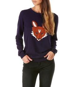 Look what I found on #zulily! Navy Nita Fox Sweater #zulilyfinds