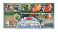 Toddler Toys Melissa & Doug Catch & Count Fishing Game Free Shipping New Fun #MelissaDoug