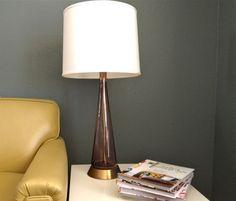 Midcentury glass lamp $129.50