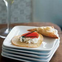 Mini Smoked Salmon Pizzas | MyRecipes.com