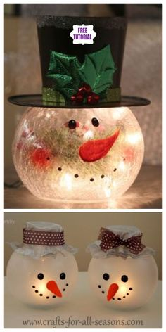 bowl snowman tutorial candle holder fish diy DIY Fish Bowl Snowman Candle Holder TutorialYou can find Fish bowl snowman and more on our website Snowman Christmas Decorations, Country Christmas Decorations, Christmas Ornament Crafts, Snowman Crafts, Christmas Centerpieces, Holiday Crafts, Christmas Diy, Christmas Snowman, Snowman Wreath