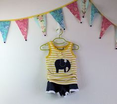 Girls boutique elephant applique tee shirt with by TheMulberriBush via Etsy.