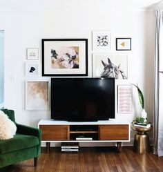Home Goals: Gallery Wall Around a TV | Musings on Momentum
