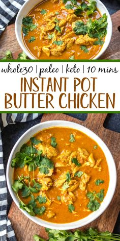 Five Approaches To Economize Transforming Your Kitchen Area This Instant Pot Butter Chicken Couldn't Be Easier To Make. It's Paleo, Gluten-Free, Keto And Takes Under 30 Minutes From Start To Finish. This Low Carb, Totally Delicious Indian Dish Is A Indian Food Recipes, Paleo Recipes, Real Food Recipes, Chicken Recipes, Ethnic Recipes, Paleo Menu, Paleo Dessert, Whole 30 Recipes, Great Recipes
