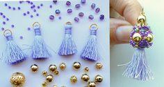 Nappine e mezzocristalli viola e #perline color oro. Ecco a cosa sto lavorando oggi! Se siete interessate a simpatici orecchini con nappine, contattatemi privatamente!   #raffaelladeangeli #prodottounico #fattoamano #gioielli #bijoux #artigianiitaliani #madeinitaly #orecchini #nappine #viola #handmade #jewelry #artjewelry #accessory #woman #earrings #SGC