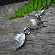 Tourmalinated Quartz Necklace Black Rutilated Quartz