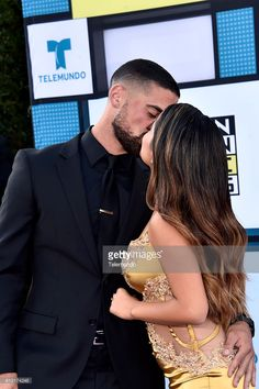 AWARDS -- 'Red Carpet' -- Pictured: (l-r) Recording artists Sebastian Lletget (aka Da Boy) and Becky G arrive at the 2016 Latin American Music Awards at the Dolby Theater in Los Angeles, CA on October 6, 2016 --
