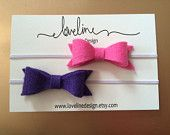 Felt Bow Headbands; Felt Bow; Baby, Toddler, Girl Felt Bows