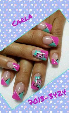 Uñas Easter Nail Designs, French Nail Designs, Toe Nail Designs, Gorgeous Nails, Pretty Nails, Elegant Nail Art, Silver Nails, French Tip Nails, Cute Nail Art