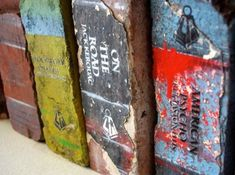Recycled Brick Turned into a Book