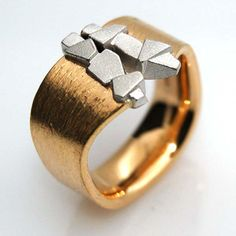Ring in Gelbgold/Weissgold 750