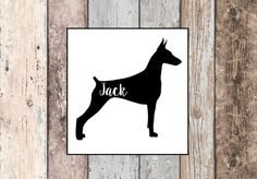 Dog Decal- Doberman, Custom, Vinyl Decal, Car Decal, Yeti Decal, Dog Lover, Dogs, Pet Lovers, Animals, laptop decal, personalized