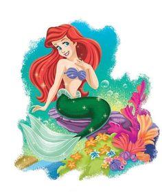 Ariel Mermaid, Ariel The Little Mermaid, Mermaid Art, Mermaid Poster, Cute Disney, Disney Art, Disney Pixar, Walt Disney Images, Little Mermaid Characters