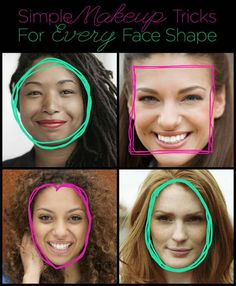 12 Simple Makeup Tricks For Every Face Shape