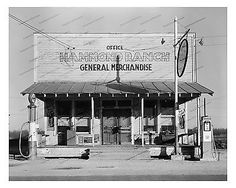 1940s era vintage photo-General store front-gas pumps-old car-Salada ...