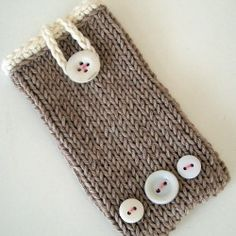 Make this simple and beautiful phone case using basic knitting techniques and just a small amount of organic, fair trade cotton.