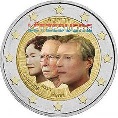 2 Euro Lussemburgo 2011. 50° anniversario della Gran Duchessa Charlotte
