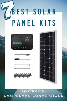 7 Best RV Solar Panel Kits in 2021 & Complete Buying Guide Used Solar Panels, Portable Solar Panels, Solar Panel Kits, Solar Panel Calculator, Build A Camper Van, Diy Projects Cans, Buying An Rv, Solar Generator