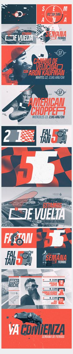 Motorweek: It is a special graphic pack, that during a week, 4 of our shows will compete in a race. For 6 days they will build their best car for the race on the seventh day. It generated a graphic style immersed in the code of car racing. Various graphic elements were taken from it to make use in the different parts of our system. Credits: Design, animation & 3d: Diego Troiano. Year: 2018. All work is owned by Discovery Latin American Channels.