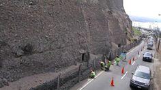 Costa Verde: Se inició el enmallado de los acantilados en Miraflores #Peru21