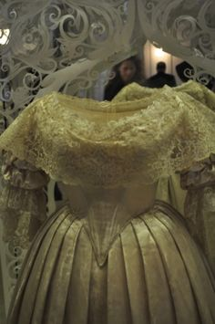 Queen Victoria's wedding gown on display at Kensington palace London