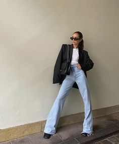 Cute Casual Outfits, Chic Outfits, Fall Outfits, Fashion Outfits, Looks Street Style, Looks Style, Looks Cool, Outfit Jeans, Mode Outfits