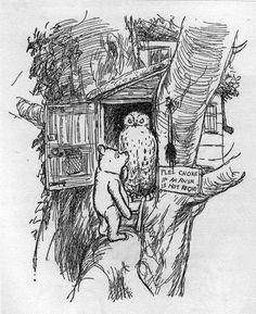 Winnie the Pooh visits Owl.
