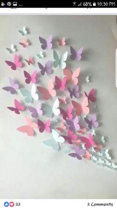 Papier Wand Schmetterling – Wandkunst – Papier Schmetterling von … Paper Wall Butterfly – Wall Art – Paper Butterfly of … Origami Butterfly, Butterfly Wall Art, Butterfly Party, Paper Butterflies, Butterfly Crafts, Beautiful Butterflies, Butterfly Mobile, Diy Butterfly Decorations, 3d Paper Flowers
