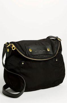 $198, Black Canvas Crossbody Bag: Marc by Marc Jacobs Preppy Nylon Natasha Crossbody Bag Black. Sold by Nordstrom. Click for more info: https://lookastic.com/women/shop_items/240916/redirect