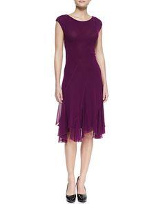 Bias Seamed Magenta Dress, Plum by Jean Paul Gaultier at Neiman Marcus.