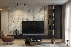 Dinara Yusupova on Behance Modern Tv Room, Modern Tv Wall Units, Living Room Modern, Living Room Decor, Living Rooms, Home Room Design, Home Interior Design, House Design, Salon Art Deco