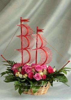 Good Afternoon sister,have a joyful afternoon, xxx❤❤❤💌☺😊😘 Deco Floral, Arte Floral, Floral Design, Ikebana, Candy Flowers, Paper Flowers, Floral Centerpieces, Floral Arrangements, Flower Crafts