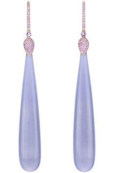 Сhopard purple jade earrings