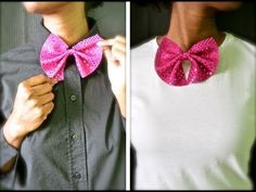 How to make your own bowties (for girls but I guess for guys too!)