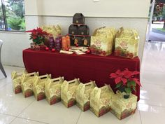 Christmas corporative office desk. Office basket, gift for employees.