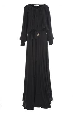 URMIA ABAYA - Beautiful detail, full of volume & exquisite detail, upper body closes with a drawstring complete with tassles, inside bodice has an attached camisole & comes with a belt which can be worn around the waist.