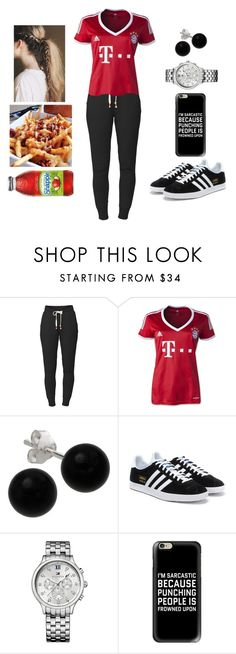 """""""Lunch Break #2 (Football Jersey Series - FC Bayern München)"""" by teodoramaria98 ❤ liked on Polyvore featuring Lija, Bridge Jewelry, adidas Originals, Tommy Hilfiger, Casetify and Charlotte Russe"""