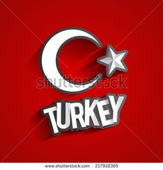 Creative Abstract Turkish Flag Background vector illustration - stock vector