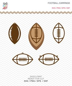 Football Earrings SVG DXF PNG eps teardrop Pendant Rugby, Sports Earrings decal Cut File for Cricut Design, Silhouette studio, Makes the Cut by SvgCutArt on Etsy